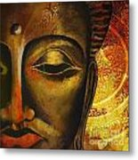 Face Of Buddha  Metal Print by Corporate Art Task Force