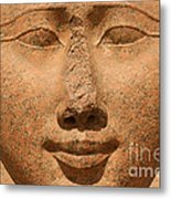 Face Of Hathor Metal Print by Stephen & Donna O'Meara
