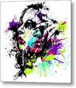 Face Paint 1 Metal Print by Jeremy Scott