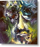 Face Series 5 The Other Side Metal Print by Michelle Dommer