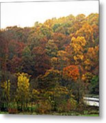 Fall At Valley Forge Metal Print by Skip Willits