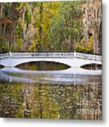 Fall Footbridge Metal Print by Al Powell Photography USA