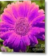 Fall For Me Green Pink Metal Print by Holley Jacobs