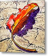 Fall Leaf Sketchbook Project Down My Street Metal Print by Irina Sztukowski