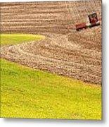 Fall Plowing Metal Print by Doug Davidson
