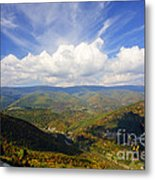 Fall Scene From North Fork Mountain Metal Print by Dan Friend