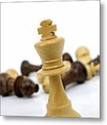 Falling Chess Piece Metal Print by Bernard Jaubert