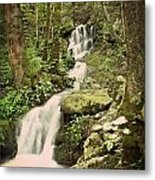 Falls In The Smokies Metal Print by Marty Koch