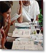 Family Around The Sedder Table Metal Print by Ilan Rosen