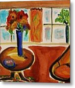 Family Room Corner Metal Print by Mary Carol Williams