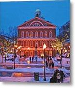 Faneuil Hall Holiday- Boston Metal Print by Joann Vitali
