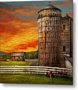 Farm - Barn - Welcome To The Farm  Metal Print by Mike Savad