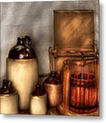 Farm - Bottles - Let's Make Some  Apple Juice Metal Print by Mike Savad