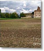 Farm Castle Metal Print by Olivier Le Queinec