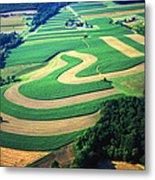 Farm Designs Pennsylvania Aerial Metal Print by Blair Seitz