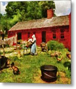 Farm - Laundry - Old School Laundry Metal Print by Mike Savad