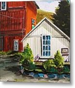 Farm Store Metal Print by John  Williams