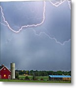 Farm Storm Hdr Metal Print by James BO  Insogna