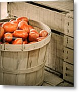 Farmers Market Plum Tomatoes Metal Print by Julie Palencia