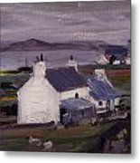 Farmsteading Metal Print by Francis Campbell Boileau Cadell