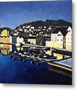 Farsund In Winter Metal Print by Janet King