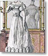 Fashion Plate Of A Lady In Evening Metal Print by English School
