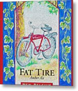 Fat Tire Metal Print by Cheryl Young