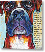 Fawn Boxer Love Metal Print by Stephanie Gerace