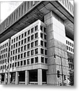 Fbi Building Rear View Metal Print by Olivier Le Queinec