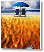 Feather Light Metal Print by Mal Bray
