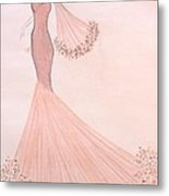 Feathers And Frills Metal Print by Christine Corretti