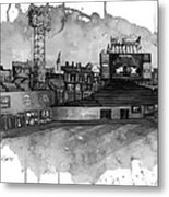 Fenway Bw Metal Print by Michael  Pattison