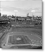 Fenway Park Photo - Black And White Metal Print by Horsch Gallery