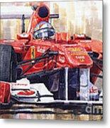 Ferrari 150 Italia Fernando Alonso F1 2011  Metal Print by Yuriy  Shevchuk
