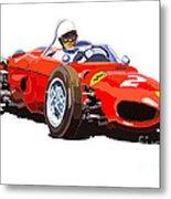Ferrari Dino 156 1962  Metal Print by Yuriy  Shevchuk