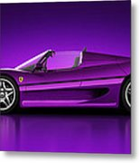 Ferrari F50 - Neon Metal Print by Marc Orphanos