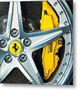 Ferrari Wheel 3 Metal Print by Jill Reger