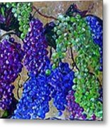 Festival Of Grapes Metal Print by Eloise Schneider