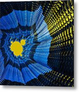Field Of Force - Yellow Blue And Black Abstract Fractal Art Metal Print by Matthias Hauser