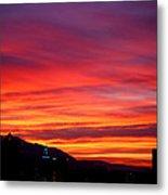 Fiery Sunset Metal Print by Rona Black