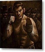 Fight Metal Print by Mark Zelmer