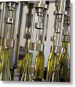 Filling Wine Bottles Metal Print by Kevin Miller