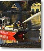 Fire Boat Metal Print by Susan Leggett