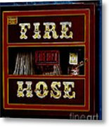Fire Hose Metal Print by Cheryl Young