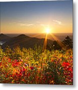 Fire On The Mountain Metal Print by Debra and Dave Vanderlaan