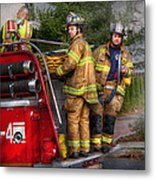 Firefighting - Only You Can Prevent Fires Metal Print by Mike Savad