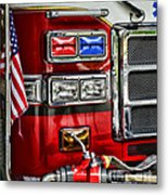 Fireman - Fire Engine Metal Print by Paul Ward