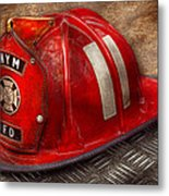 Fireman - Hat - A Childhood Dream Metal Print by Mike Savad