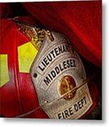 Fireman - Hat - Everyone Loves Red Metal Print by Mike Savad
