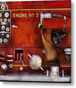 Fireman - Old Fashioned Controls Metal Print by Mike Savad